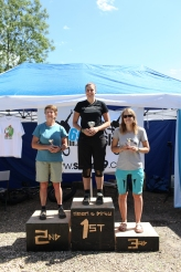 Our ladies podium, Winner Kelly Witts, 2nd Sue Stirrup and 3rd 25k